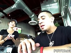 Young Asian night club threesomes Vina Sky does anything for extra cash