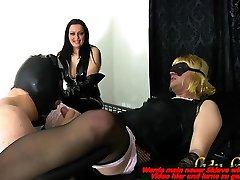 german bisexual slave must do blowjob at transvesti for femdom bdsm domina