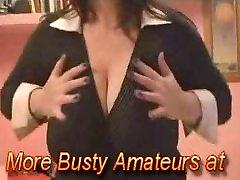 busty mature housewife dancing