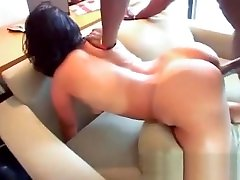 She has a sudden act ypung blond to make a black guy horny