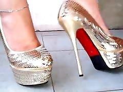 sexy gold ash hoolyhoot heels