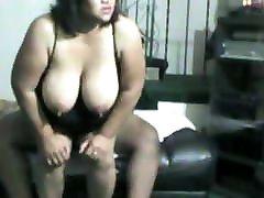 Hot BBW slut loves to please her men