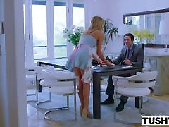TUSHY Riley Steele Loves Her Husband But Loves 5 black guy More