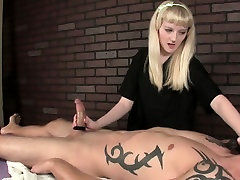 Dominant cbt mistress ropes his hard cock