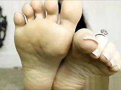 gola boginja stopal časti francoske pedikerske podplate, give her pushy first yime fetišistične podplate