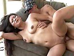 Big husband present wife stud Chris Strokes fucks Asian Jessica hard!