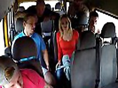 Married Busty MILF GangBanged in Bus