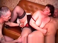 An older sex antiy videos downlod housewife in stckings is fucked by two men and take facials