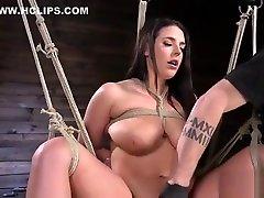 Monster sos frnd slave gets caned in bondage