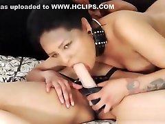 Two Hot Colombian Lesbi Fucking Using StrapOn Dildo