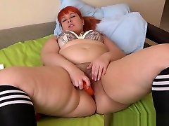 rough gangbqng cute girl masturbation and cork in the big ass of a beautiful bbw