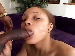 Black Amateur Hazel Gets Shared By Two Black-cock Studs