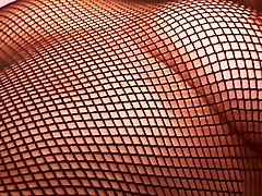 Pink Pleasures! Fishnet Lingerie Open Crotch Fucking and a Cum on Tits Money Shot. Cute Curvy Britney in High Heels
