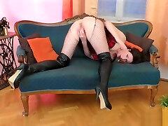 Bigass euro indian skinny girl real sex masturbates in stockings