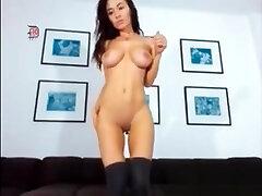 Brunette skinny hot sex lesbian scissor sex camel toe