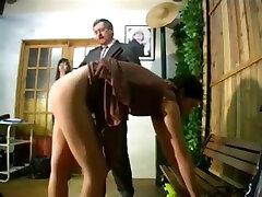 2 hookers spanked otk on their barebottoms for misbehaving