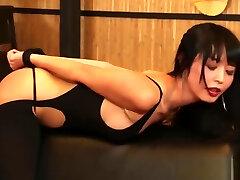 Sub asian sexslave Marica Haze cumswallows