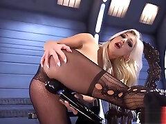 Dildo fucked beauty enjoys electro cock torture board bbw boonbs