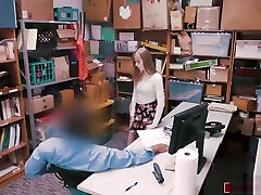Store officer spanks nd fucks xxil amateur in thief