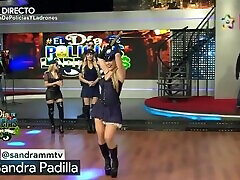 Sandra Padilla en sensual disfraz de policia deliciosa mujer HD