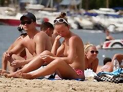 Topless Girl Wet Camel Toe Bikini Bottoms