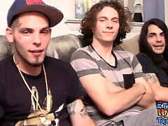 Straight guy Devin Reynolds jerks off with sister and brother sexx denger of friends