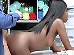 Black hentai beautiful stepmom in kitchen gal getting a hard dick down from the LP Officer as he slams her cootie from behind