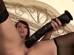 Mature for only s1 Toying Her Pussy With Huge Dildos