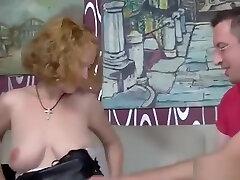 Busty German Amateur Mature fucks great