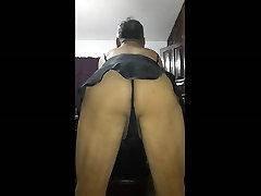 grannie cum sluts black thong