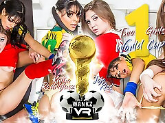 Two Girls & One World Cup Preview - Jojo Kiss & Katya Rodriguez - WANKZVR