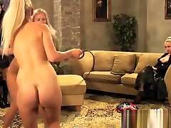 Two Blonde Slaves Playing For Mistress.MP4