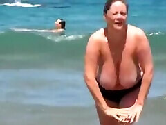 Huge Tits Mature at marks nut porn Beach