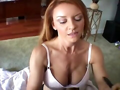 Mature Redhead Uses He Both Hands On His Meatpole