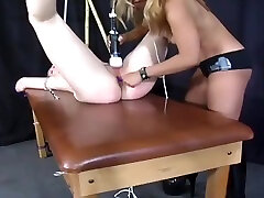 Blonde Domme Fingers And Toys The Cunt Of Slave