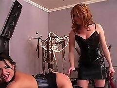lesbian banged while sleep with spanking