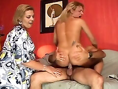 busty blonde tranny fucks And gets poked