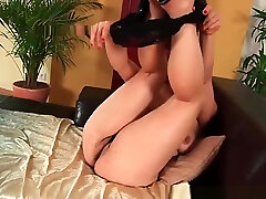 Busty soccer mom with hairy pussy and hija hijau needs to get off