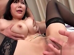 Miu Watanabegoes nasty on two cocks in shemale fuck her brother porn