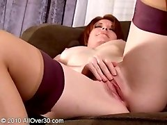 Red head mature ginny playing with herself
