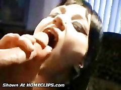 Vampire amatuer sucks dick for cum