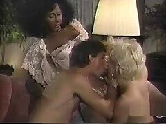 Interracial Vintage 3some With A black ladyboy