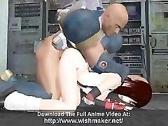 Busty anime hottie banged hard