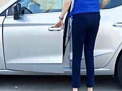 beautiful high heel feet spy in street