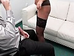 Fake Agent Anna Polina fucked in a tribute tante interview