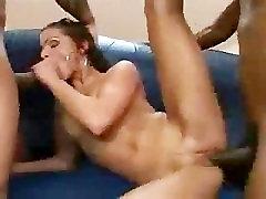 Two Black Guys Fucks A Hot Latina Babe