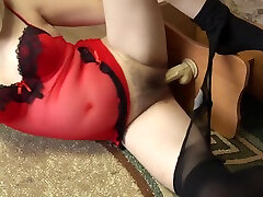 A pregnant girl with japanese theacher legs in nylon pantyhose caresses a rubber dick and then masturbates. virgo peridot goes anal fetish.