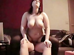 Chubby wife having sex with husband