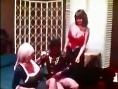 Uschi Digard and Candy Samples fuck a black man