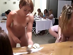 College lesbians strapon fucked in group
